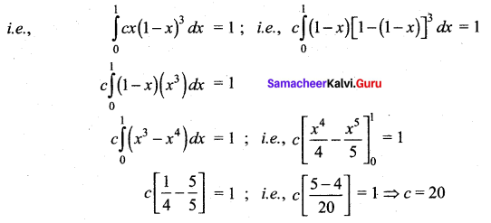Samacheer Kalvi 12th Maths Solutions Chapter 11 Probability Distributions Ex 11.3 23