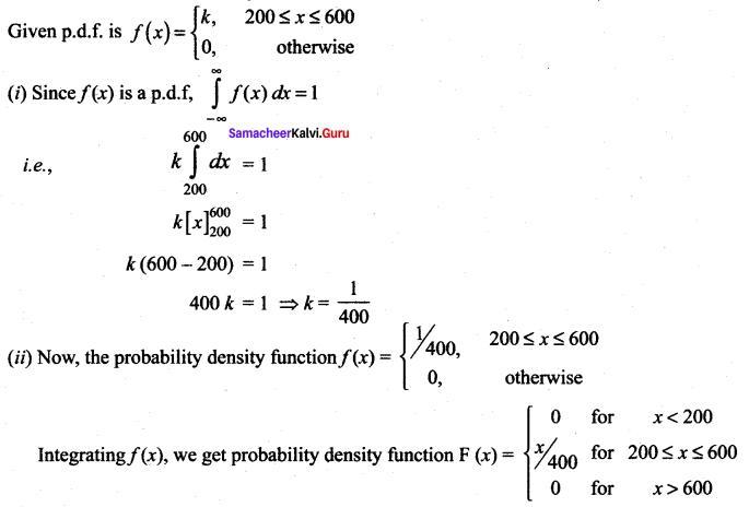 Samacheer Kalvi 12th Maths Solutions Chapter 11 Probability Distributions Ex 11.3 7