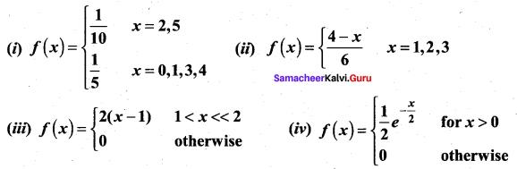 Samacheer Kalvi 12th Maths Solutions Chapter 11 Probability Distributions Ex 11.4 1