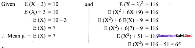 Samacheer Kalvi 12th Maths Solutions Chapter 11 Probability Distributions Ex 11.4 10