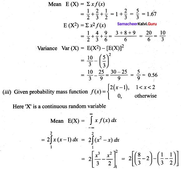 Samacheer Kalvi 12th Maths Solutions Chapter 11 Probability Distributions Ex 11.4 4