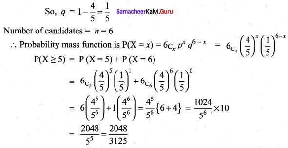 Samacheer Kalvi 12th Maths Solutions Chapter 11 Probability Distributions Ex 11.5 26