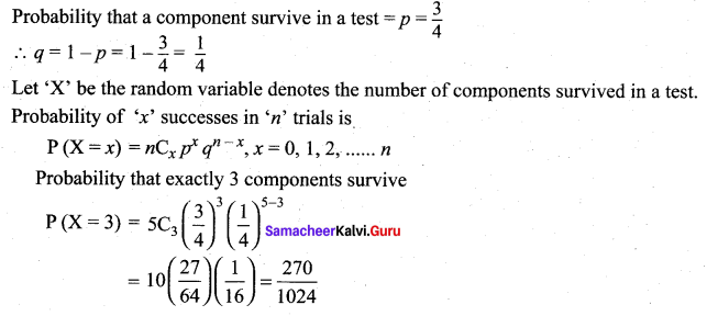 Samacheer Kalvi 12th Maths Solutions Chapter 11 Probability Distributions Ex 11.5 9