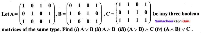 Samacheer Kalvi 12th Maths Solutions Chapter 12 Discrete Mathematics Ex 12.1 12