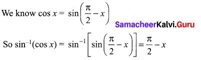 Samacheer Kalvi 12th Maths Solutions Chapter 4 Inverse Trigonometric Functions Ex 4.6 1