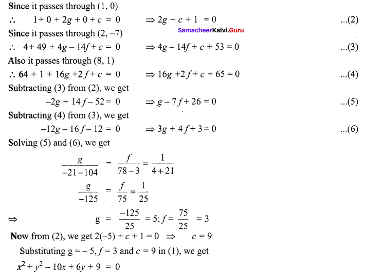 Two Dimensional Analytical Geometry Pdf Samacheer Kalvi