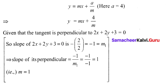 Samacheer Kalvi 12th Maths Solutions Chapter 5 Two Dimensional Analytical Geometry - II Ex 5.4 2