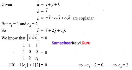 Samacheer Kalvi 12th Maths Solutions Chapter 6 Applications of Vector Algebra Ex 6.2 12