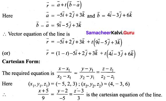 Samacheer Kalvi 12th Maths Solutions Chapter 6 Applications of Vector Algebra Ex 6.4 14