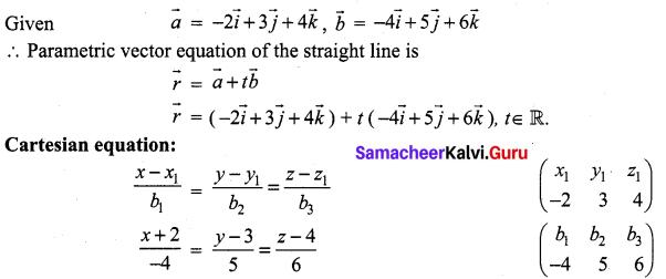 Samacheer Kalvi 12th Maths Solutions Chapter 6 Applications of Vector Algebra Ex 6.4 2