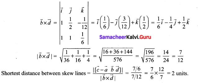 Samacheer Kalvi 12th Maths Solutions Chapter 6 Applications of Vector Algebra Ex 6.5 12
