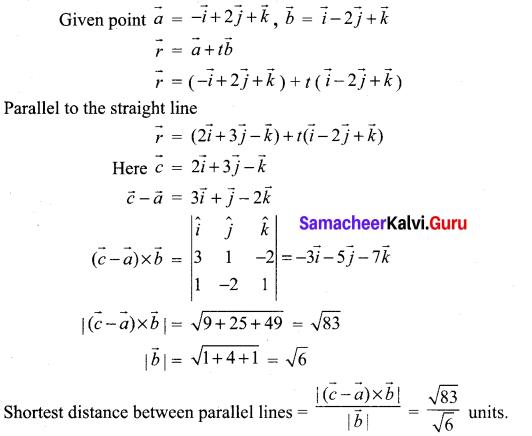 Samacheer Kalvi 12th Maths Solutions Chapter 6 Applications of Vector Algebra Ex 6.5 13