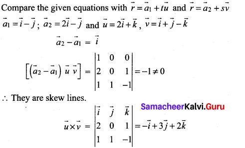 Samacheer Kalvi 12th Maths Solutions Chapter 6 Applications of Vector Algebra Ex 6.5 18