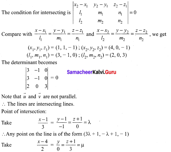 Samacheer Kalvi 12th Maths Solutions Chapter 6 Applications of Vector Algebra Ex 6.5 21
