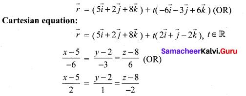 Samacheer Kalvi 12th Maths Solutions Chapter 6 Applications of Vector Algebra Ex 6.5 3