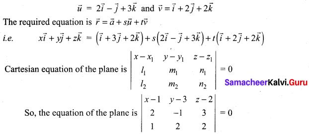 Samacheer Kalvi 12th Maths Solutions Chapter 6 Applications of Vector Algebra Ex 6.7 13