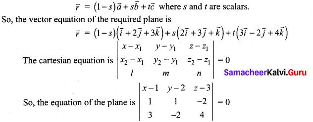 Samacheer Kalvi 12th Maths Solutions Chapter 6 Applications of Vector Algebra Ex 6.7 16