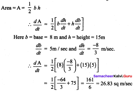 Samacheer Kalvi 12th Maths Solutions Chapter 7 Applications of Differential Calculus Ex 7.1 13
