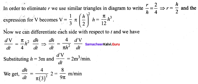 Samacheer Kalvi 12th Maths Solutions Chapter 7 Applications of Differential Calculus Ex 7.1 16