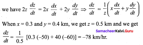 Samacheer Kalvi 12th Maths Solutions Chapter 7 Applications of Differential Calculus Ex 7.1 177