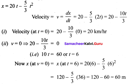 Samacheer Kalvi 12th Maths Solutions Chapter 7 Applications of Differential Calculus Ex 7.1 18