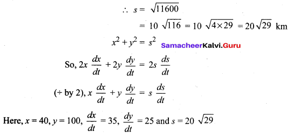 Samacheer Kalvi 12th Maths Solutions Chapter 7 Applications of Differential Calculus Ex 7.1 21