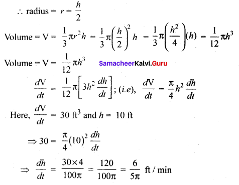 Samacheer Kalvi 12th Maths Solutions Chapter 7 Applications of Differential Calculus Ex 7.1 23