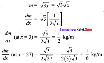 Samacheer Kalvi 12th Maths Solutions Chapter 7 Applications of Differential Calculus Ex 7.1 7