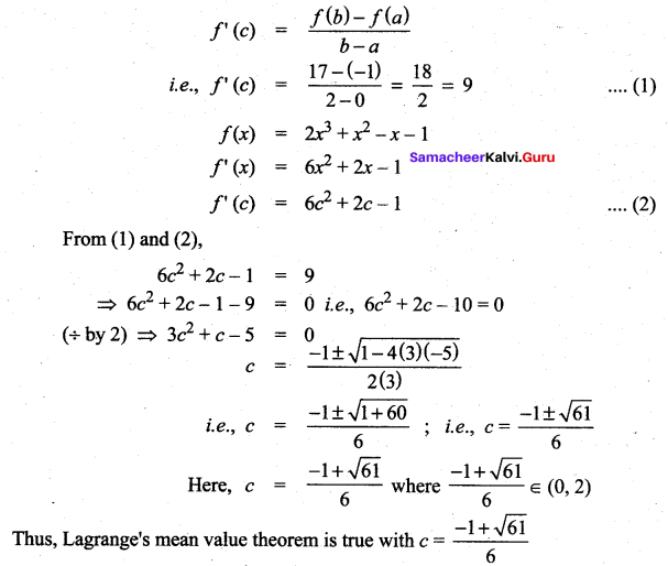 Samacheer Kalvi 12th Maths Solutions Chapter 7 Applications of Differential Calculus Ex 7.3 23