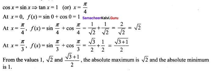 Samacheer Kalvi 12th Maths Solutions Chapter 7 Applications of Differential Calculus Ex 7.6 17