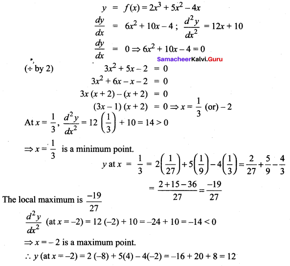 Samacheer Kalvi 12th Maths Solutions Chapter 7 Applications of Differential Calculus Ex 7.6 19
