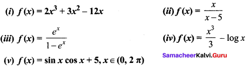 Samacheer Kalvi 12th Maths Solutions Chapter 7 Applications of Differential Calculus Ex 7.6 5