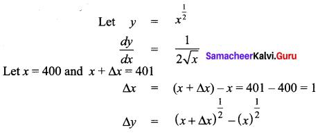 Samacheer Kalvi 12th Maths Solutions Chapter 8 Differentials and Partial Derivatives Ex 8.1 16