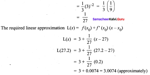Samacheer Kalvi 12th Maths Solutions Chapter 8 Differentials and Partial Derivatives Ex 8.1 2