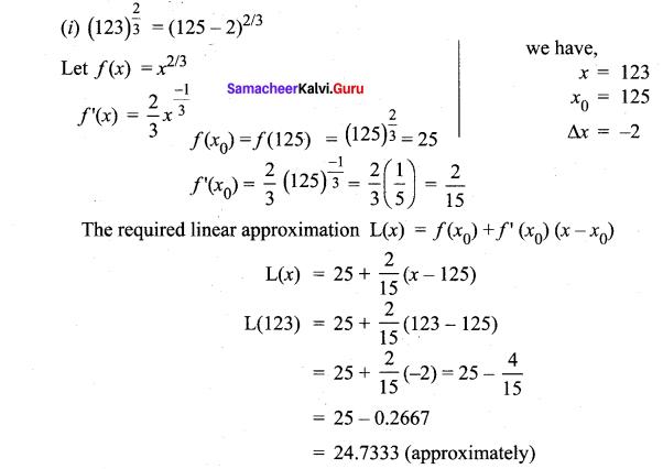 Samacheer Kalvi 12th Maths Solutions Chapter 8 Differentials and Partial Derivatives Ex 8.1 4