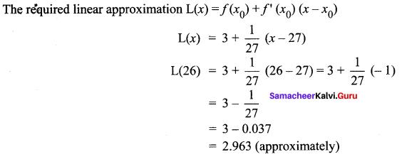 Samacheer Kalvi 12th Maths Solutions Chapter 8 Differentials and Partial Derivatives Ex 8.1 7