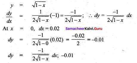 Samacheer Kalvi 12th Maths Solutions Chapter 8 Differentials and Partial Derivatives Ex 8.2 30