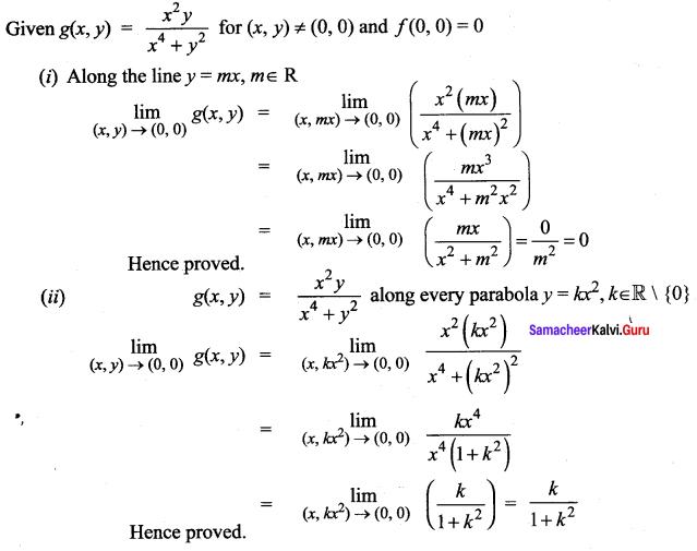 Samacheer Kalvi 12th Maths Solutions Chapter 8 Differentials and Partial Derivatives Ex 8.3 11