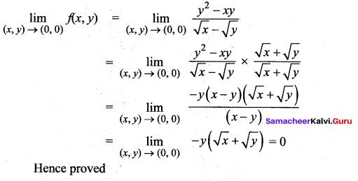 Samacheer Kalvi 12th Maths Solutions Chapter 8 Differentials and Partial Derivatives Ex 8.3 7