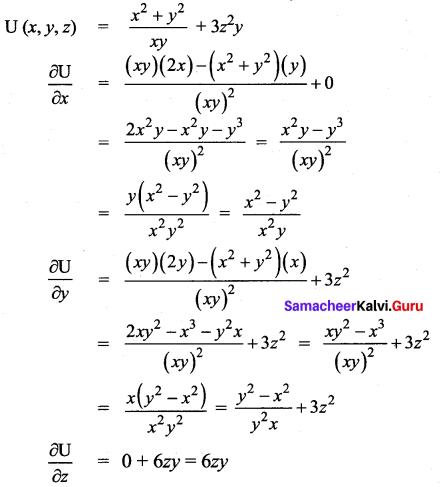 Samacheer Kalvi 12th Maths Solutions Chapter 8 Differentials and Partial Derivatives Ex 8.4 12