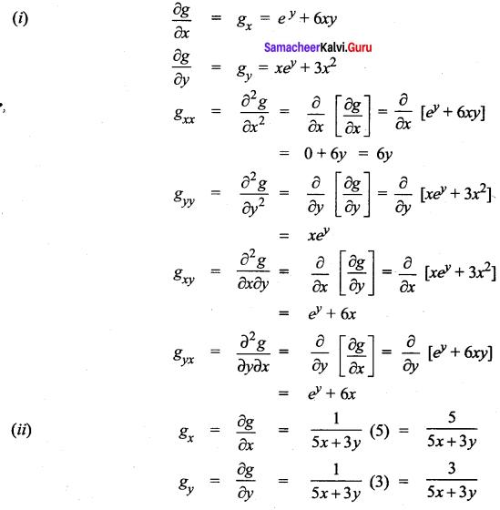 Samacheer Kalvi 12th Maths Solutions Chapter 8 Differentials and Partial Derivatives Ex 8.4 15