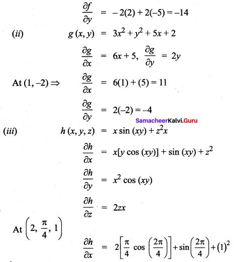 Samacheer Kalvi 12th Maths Solutions Chapter 8 Differentials and Partial Derivatives Ex 8.4 3