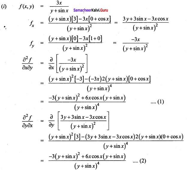 Samacheer Kalvi 12th Maths Solutions Chapter 8 Differentials and Partial Derivatives Ex 8.4 6