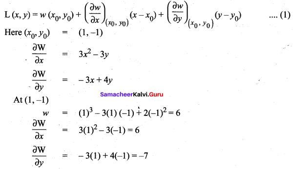 Samacheer Kalvi 12th Maths Solutions Chapter 8 Differentials and Partial Derivatives Ex 8.5 1