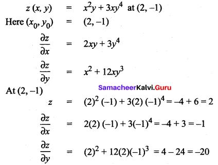 Samacheer Kalvi 12th Maths Solutions Chapter 8 Differentials and Partial Derivatives Ex 8.5 2