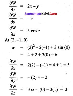 Samacheer Kalvi 12th Maths Solutions Chapter 8 Differentials and Partial Derivatives Ex 8.5 5