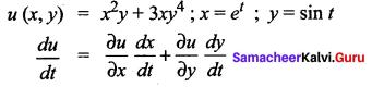 Samacheer Kalvi 12th Maths Solutions Chapter 8 Differentials and Partial Derivatives Ex 8.6 1