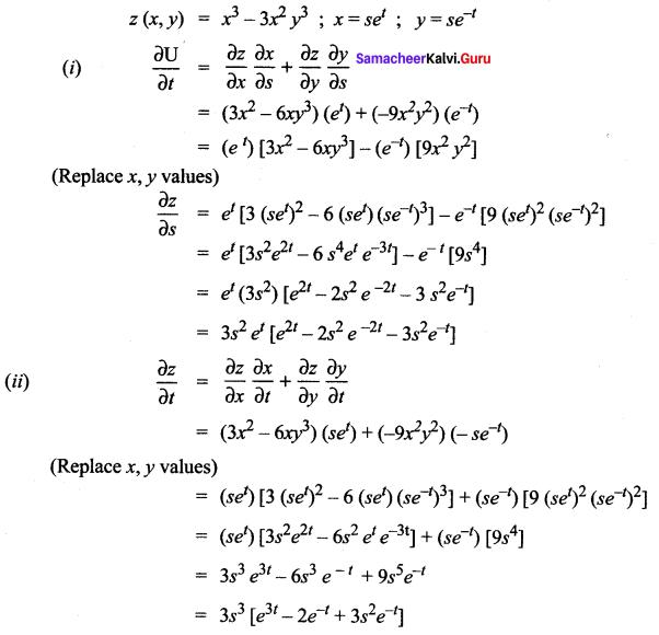Samacheer Kalvi 12th Maths Solutions Chapter 8 Differentials and Partial Derivatives Ex 8.6 16
