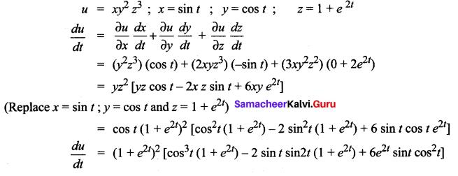 Samacheer Kalvi 12th Maths Solutions Chapter 8 Differentials and Partial Derivatives Ex 8.6 4