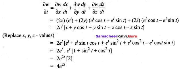 Samacheer Kalvi 12th Maths Solutions Chapter 8 Differentials and Partial Derivatives Ex 8.6 5